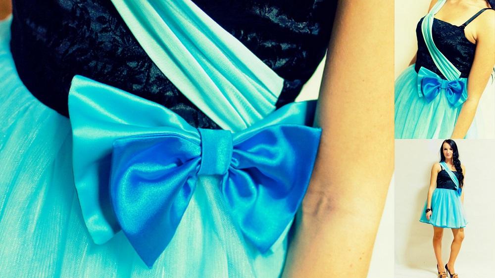 krátke spoločenské šaty s objemnou sukničkou